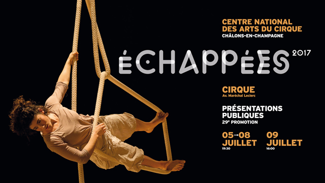 Annonce Echappées 2017 - 29e promotion du Cnac